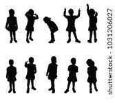child silhouette cute girl...   Shutterstock .eps vector #1031206027