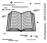 flat line art design graphic... | Shutterstock .eps vector #1031223103