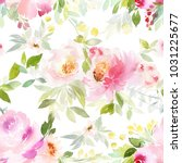 seamless summer pattern with... | Shutterstock . vector #1031225677