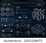 futuristic user interface.... | Shutterstock .eps vector #1031228473