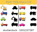 find the shadows of transport ... | Shutterstock .eps vector #1031237287