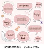 speech bubbles   scrapbook... | Shutterstock .eps vector #103124957