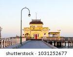 st kilda pier at sunrise | Shutterstock . vector #1031252677