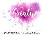 be creative hand lettering... | Shutterstock .eps vector #1031255173