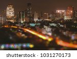 blurry bangkok night view with... | Shutterstock . vector #1031270173