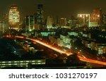 bangkok night view with... | Shutterstock . vector #1031270197