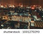 bangkok night view with... | Shutterstock . vector #1031270293