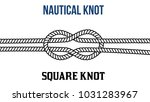 square knot on white background ... | Shutterstock .eps vector #1031283967