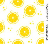 background with lemons. juicy... | Shutterstock .eps vector #1031288923
