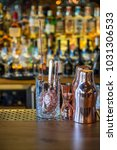 classic bar counter with... | Shutterstock . vector #1031306533