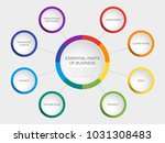 business vector slide template... | Shutterstock .eps vector #1031308483