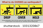 what to do during an earthquake ... | Shutterstock .eps vector #1031320867