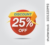 discount sale up to 25  off... | Shutterstock .eps vector #1031320993