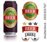 beer label vector visual on... | Shutterstock .eps vector #1031321767