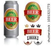 beer label vector visual on... | Shutterstock .eps vector #1031321773