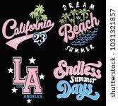 summer slogan graphic | Shutterstock .eps vector #1031321857