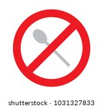 sign of no used spoon for eat ... | Shutterstock .eps vector #1031327833