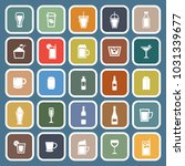 beverage flat icons on blue... | Shutterstock .eps vector #1031339677