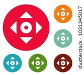 cursor displacement app icons... | Shutterstock . vector #1031345017