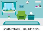 living room interior vector... | Shutterstock .eps vector #1031346223