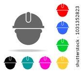 builder man in a helmet icon.... | Shutterstock .eps vector #1031352823