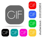 cif sign icon. elements in... | Shutterstock .eps vector #1031352853