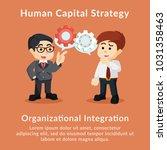 human capital strategy...   Shutterstock .eps vector #1031358463