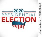 election header banner w vote... | Shutterstock .eps vector #1031358943