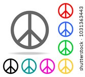 peace sign icon. elements in... | Shutterstock .eps vector #1031363443