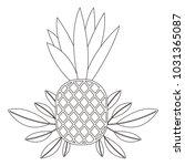 pineapple fresh fruit with... | Shutterstock .eps vector #1031365087