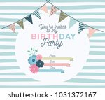 happy birthday party invitation ... | Shutterstock .eps vector #1031372167