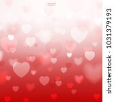 abstract red heart background.... | Shutterstock .eps vector #1031379193