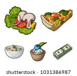 piece of vegetarian pizza with...   Shutterstock .eps vector #1031386987