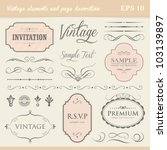 vintage elements and page... | Shutterstock .eps vector #103139897
