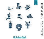 oktoberfest beer festival. long ... | Shutterstock .eps vector #1031419333