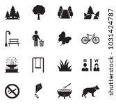 park and outdoor icons. black... | Shutterstock .eps vector #1031424787