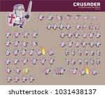 crusader cartoon game character ... | Shutterstock .eps vector #1031438137