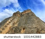 majestic ruins in uxmal mexico. ... | Shutterstock . vector #1031442883