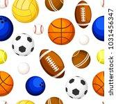 seamless pattern of sports... | Shutterstock .eps vector #1031456347