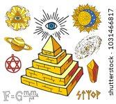 vector mystic magic esoteric... | Shutterstock .eps vector #1031466817
