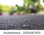 pair wedding ring | Shutterstock . vector #1031467453
