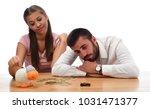beautiful couple saving money...   Shutterstock . vector #1031471377