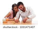 beautiful couple saving money...   Shutterstock . vector #1031471407