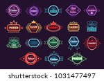 poker club and casino emblem... | Shutterstock .eps vector #1031477497