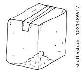 crumpled cardboard box. a... | Shutterstock .eps vector #1031489617
