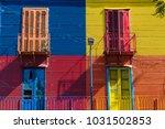 colorful area in la boca... | Shutterstock . vector #1031502853