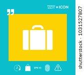 travel bag icon | Shutterstock .eps vector #1031527807