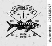 fishing sport club logo. vector ... | Shutterstock .eps vector #1031528017