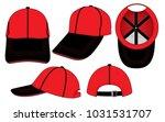 set sport baseball cap design... | Shutterstock .eps vector #1031531707