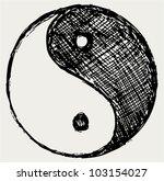 ying yang sketch symbol   Shutterstock .eps vector #103154027